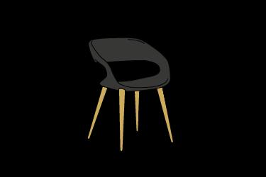 icona delle sedie di oliver b